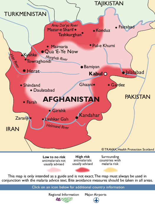 AfghanistanMalaria Map