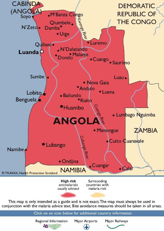 AngolaMalaria Map
