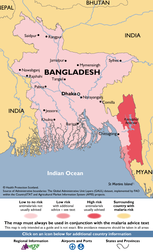 BangladeshMalaria Map