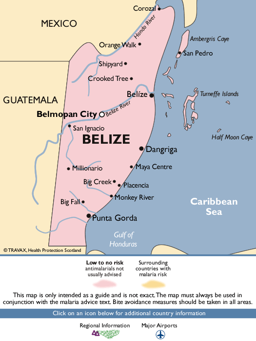 BelizeMalaria Map