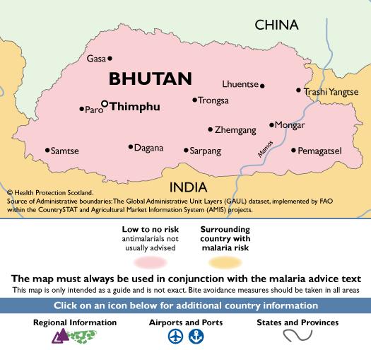 BhutanMalaria Map