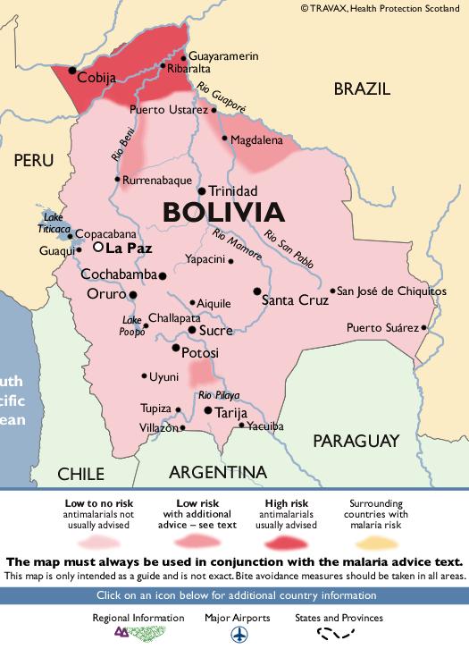 BoliviaMalaria Map