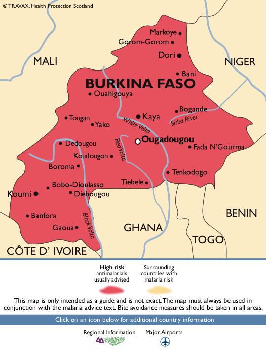 Burkina FasoMalaria Map
