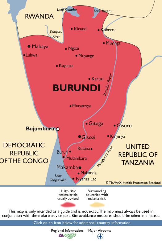 BurundiMalaria Map