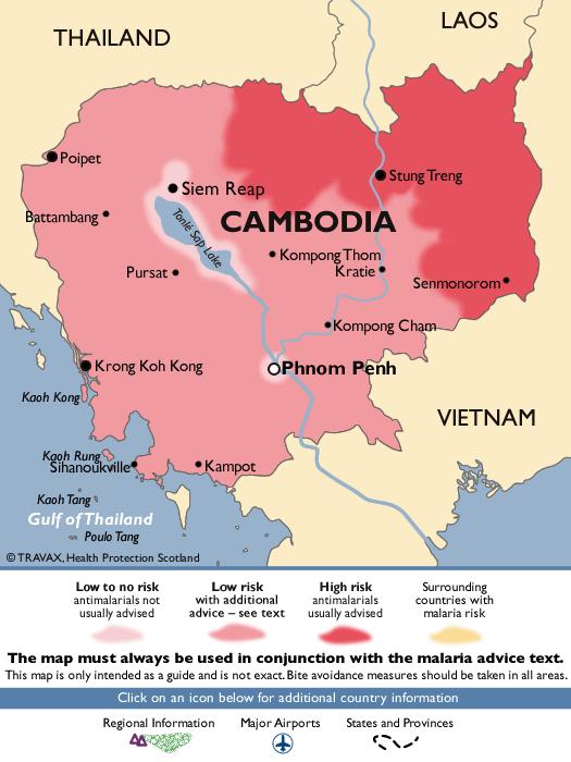 CambodiaMalaria Map