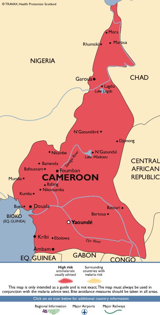 CameroonMalaria Map