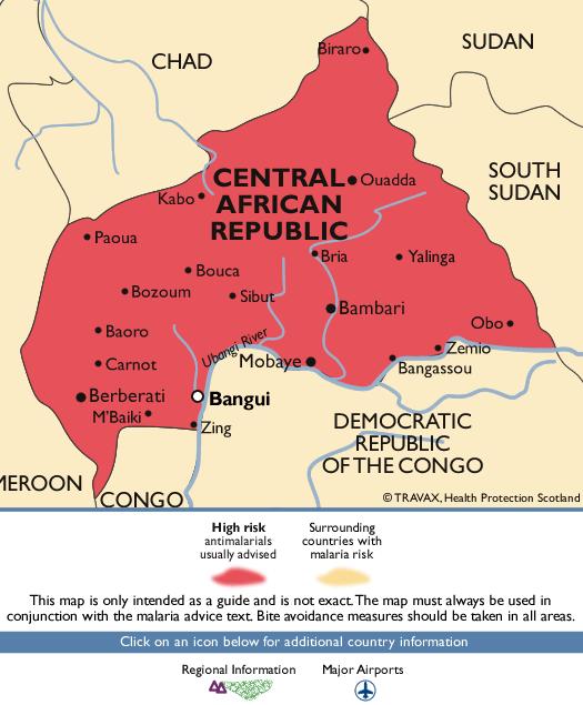 Central African RepublicMalaria Map