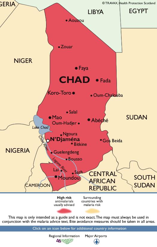 ChadMalaria Map