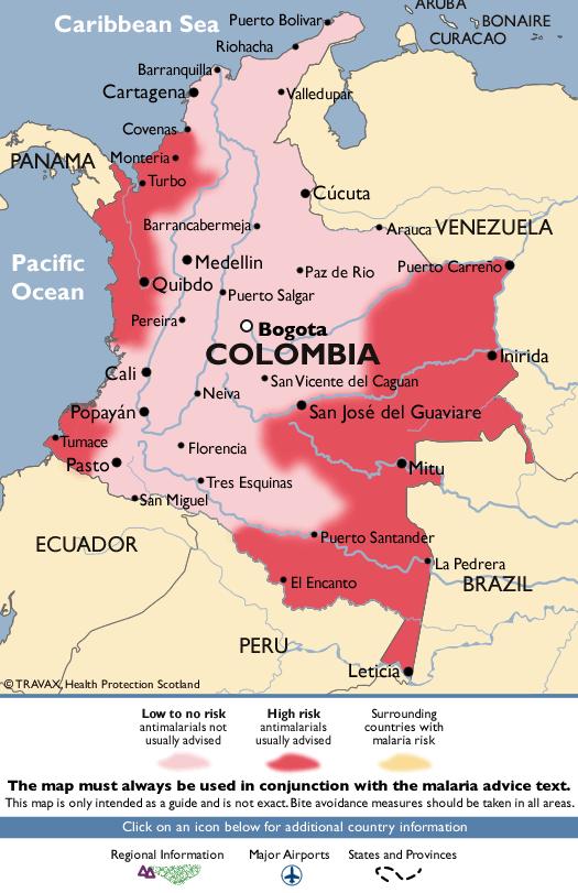ColombiaMalaria Map