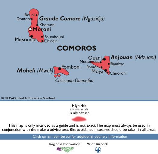 ComorosMalaria Map