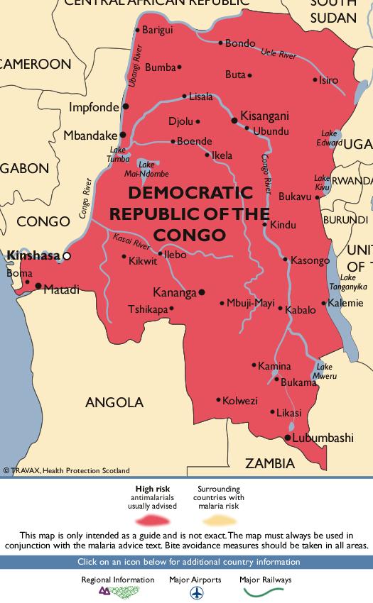 Democratic Republic of the CongoMalaria Map