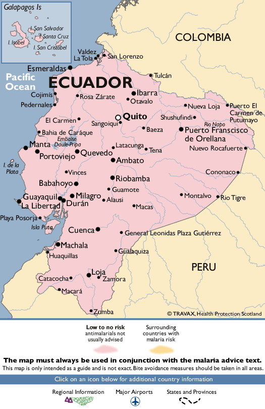 EcuadorMalaria Map