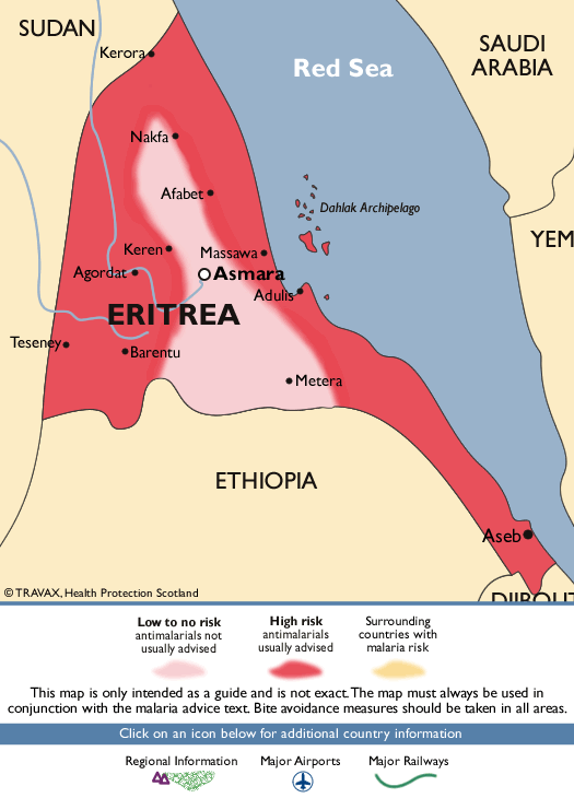 EritreaMalaria Map