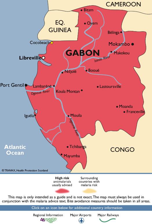 GabonMalaria Map