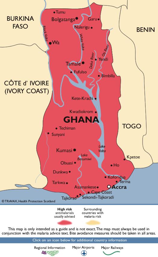 GhanaMalaria Map