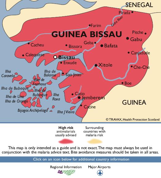 Guinea-BissauMalaria Map