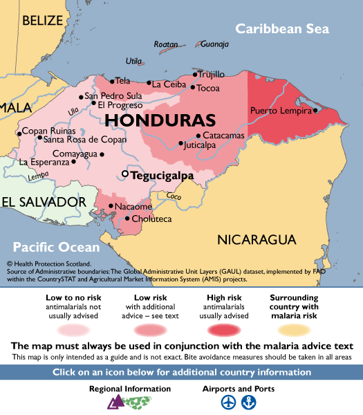 HondurasMalaria Map