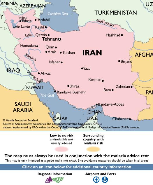 IranMalaria Map