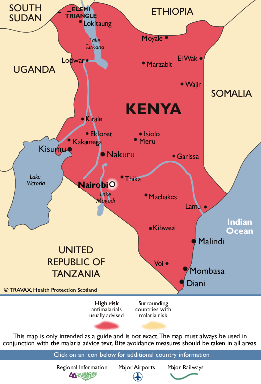 KenyaMalaria Map