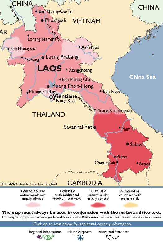 LaosMalaria Map