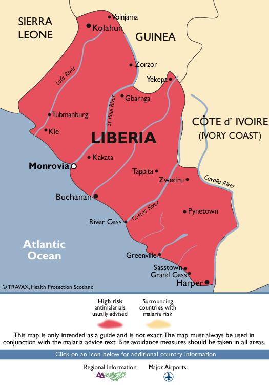 LiberiaMalaria Map