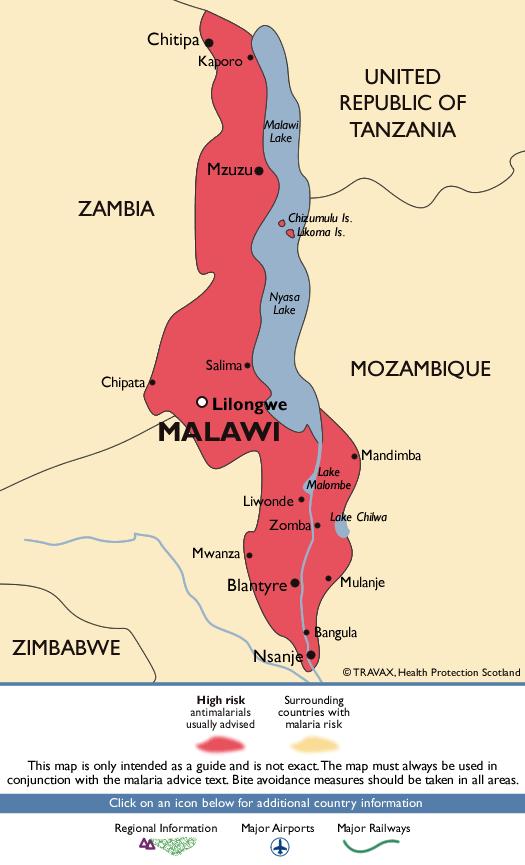 MalawiMalaria Map