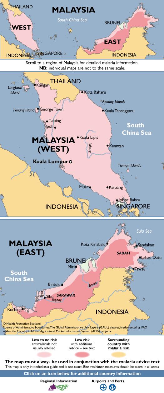 MalaysiaMalaria Map