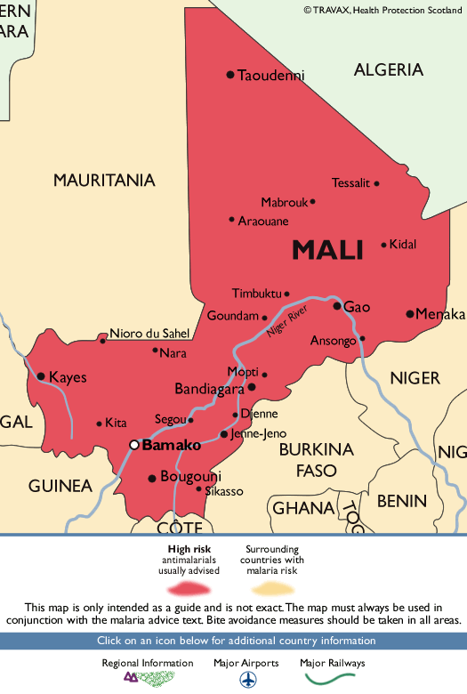 MaliMalaria Map