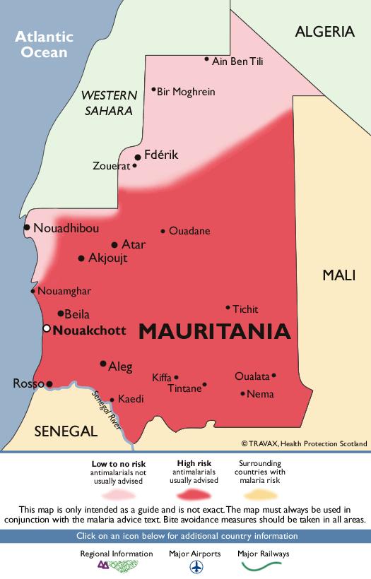 MauritaniaMalaria Map