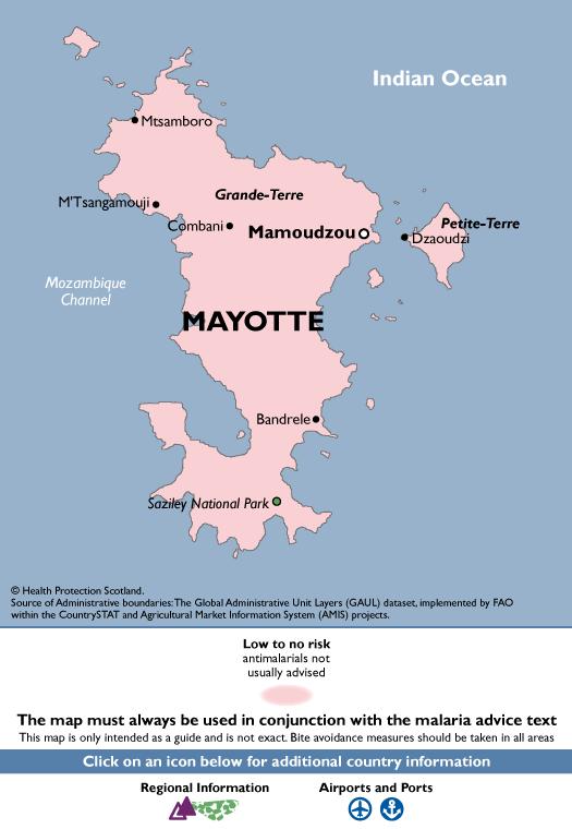 MayotteMalaria Map
