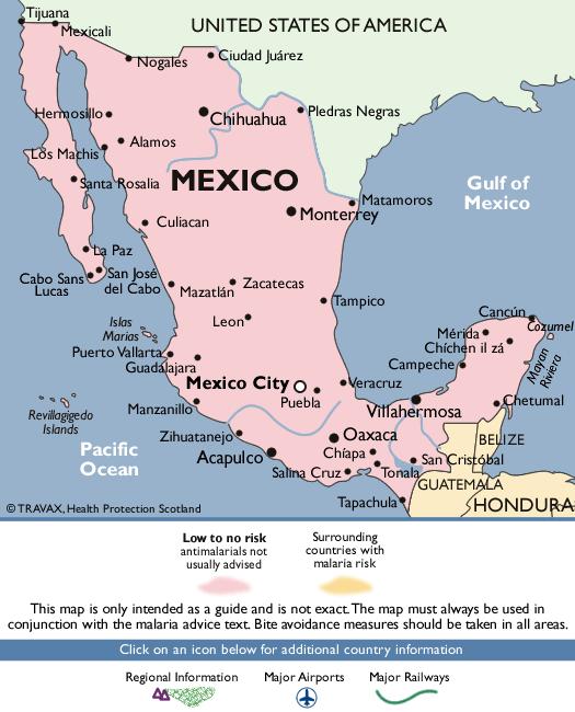 MexicoMalaria Map