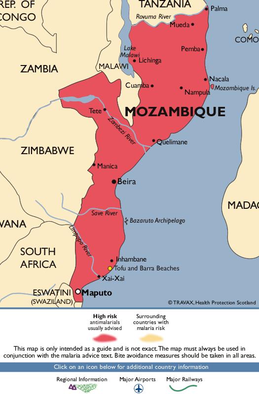 MozambiqueMalaria Map