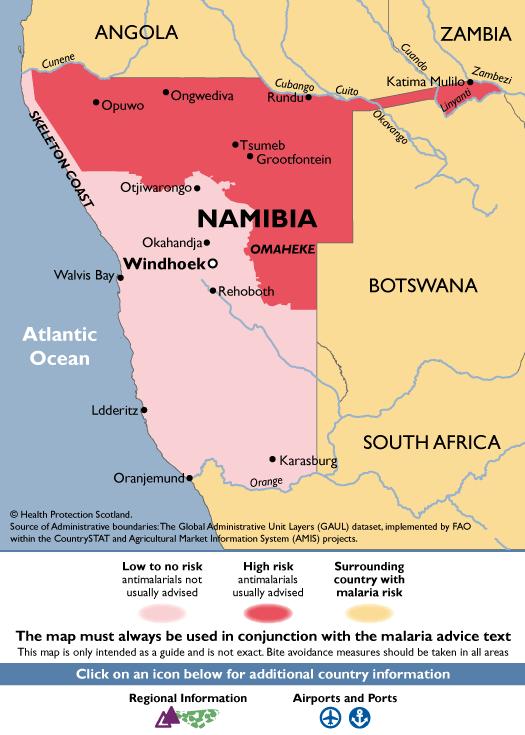 NamibiaMalaria Map