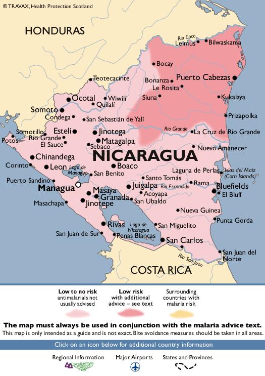 NicaraguaMalaria Map