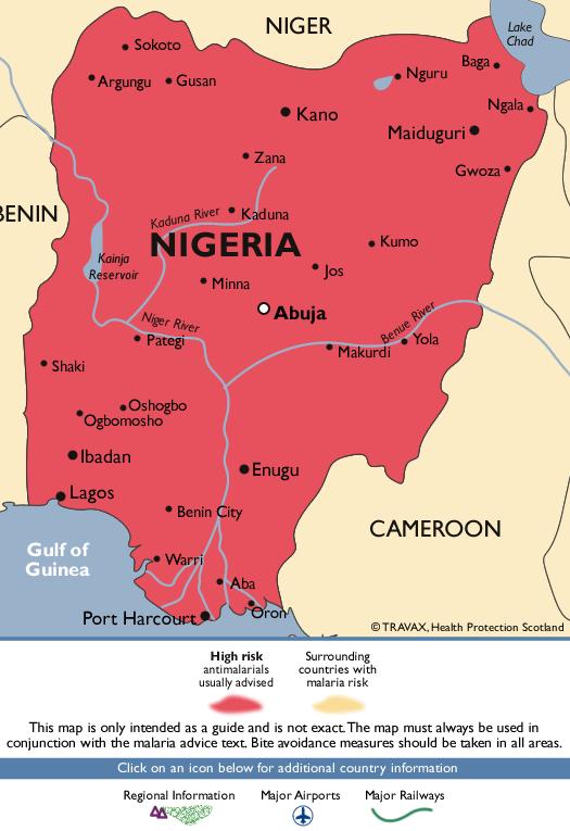 NigeriaMalaria Map