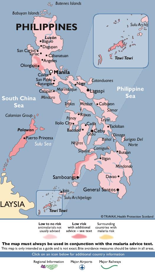 PhilippinesMalaria Map