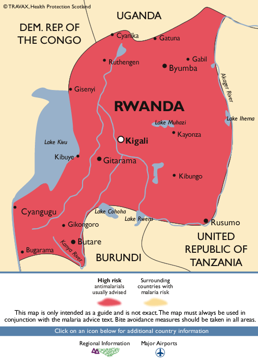 RwandaMalaria Map