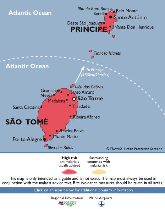 São Tomé and PríncipeMalaria Map
