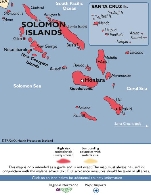 Solomon IslandsMalaria Map