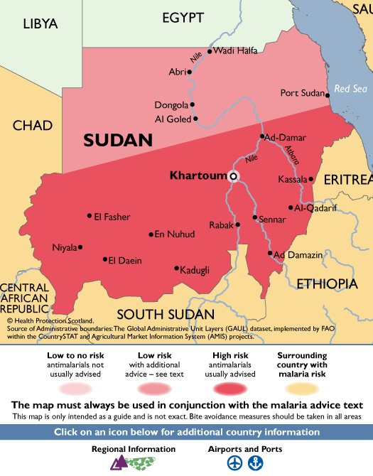 SudanMalaria Map