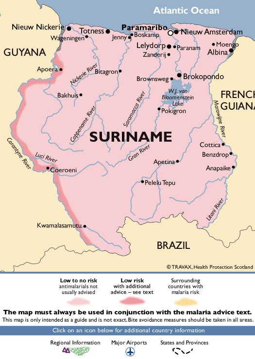 SurinameMalaria Map