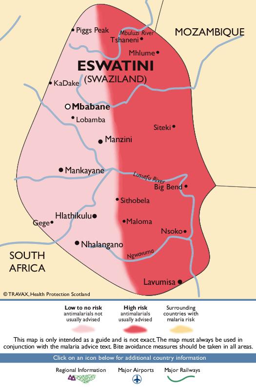 SwazilandMalaria Map