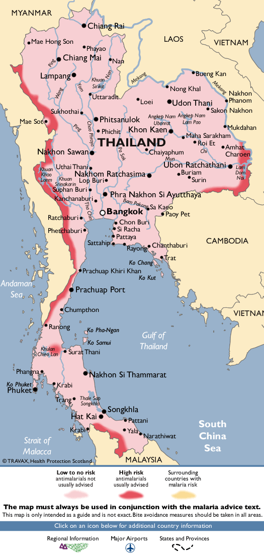 ThailandMalaria Map