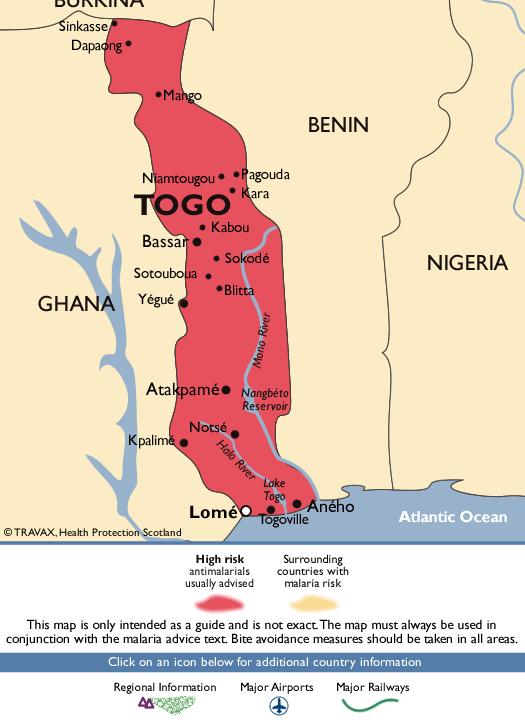 TogoMalaria Map
