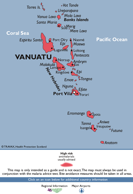 VanuatuMalaria Map