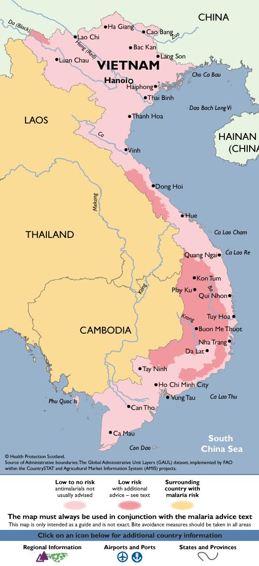 VietnamMalaria Map