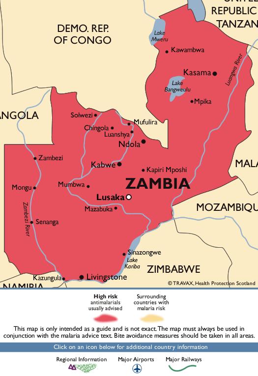 ZambiaMalaria Map