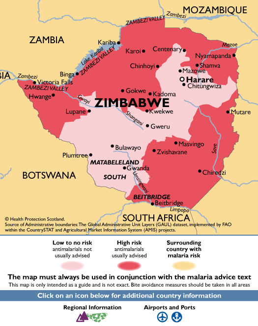 ZimbabweMalaria Map